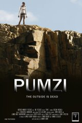 Poster of South African actress Kudzani Moswela in a scene from the film Pumzi