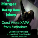 House of Hunger Poetry Slam Joburg – 31 July @ Alliance Francaise – 1pm – 5pm