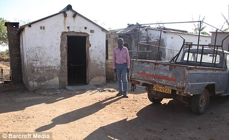 Home: Misheck Ngazana, 59, Gamu's great uncle, at Gamu's family house in Seke, Zimbabwe