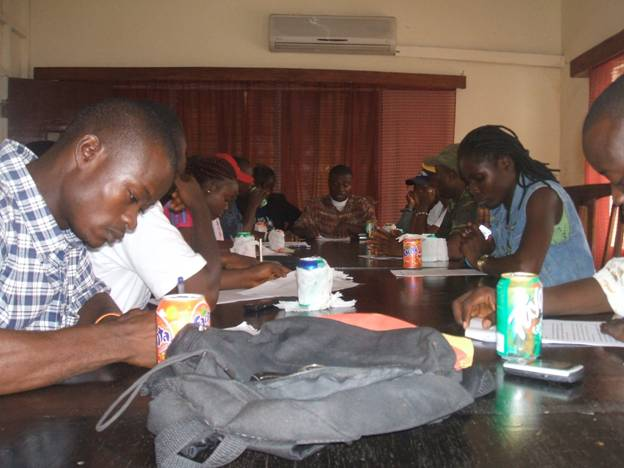 Liberian Media Reporters and Editors at the Program to form the Network