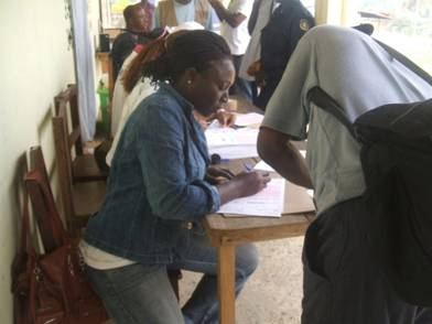 First Day of Voter Registration in Liberia