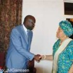 LIBERIA: Opposition Leader George Weah Discusses with