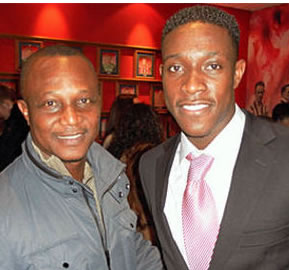 Assistant Black Star Coach and Danny Welbeck