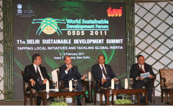 Seychelles  President James Michel speaking in panel at DSDS