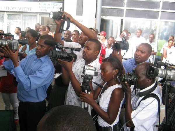 Tanzanian journalists at work