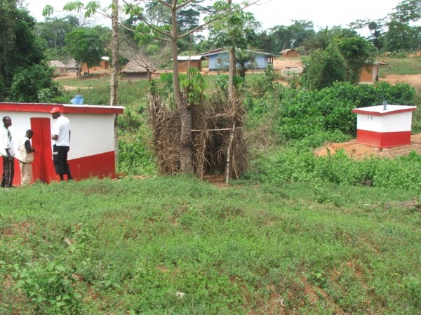 Completed Latrines in Dulay, Nimba County
