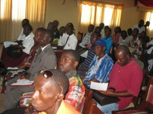 Participants listening attentively