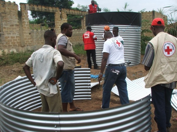 Construction of Kit-5 water treatment and distribution plant in Buutuo, Nimba County