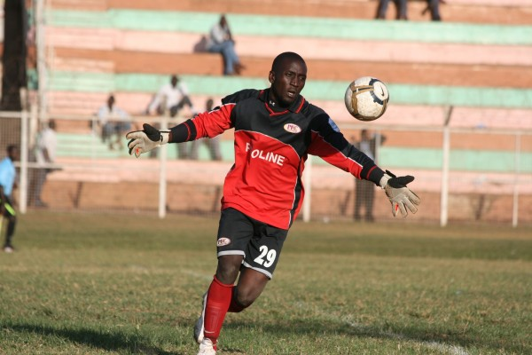 FUTILE Goalkeeper Mugabi saved from the spot during the contested game (Photo by John Batanudde)