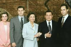 Hosni Mubarak and children