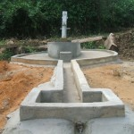 Newly constructed and Hand Pump in Nyonken (Town on the hill) Oldest Town in Tienpo Statutory District, River Gee County