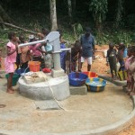 Nyonken Citizens gladly fetch safe water for the very first time, Water-Aid commended for Initiative