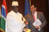 President Yahya Jammeh with BADEA boss