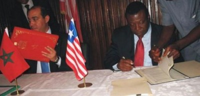 (l-r)-Moroccan-Secretary-of-State-for-Foreign-Affairs-Mohamed-Ouzzinne-and-Toga-McIntosh,-Liberia's-Foreign-Minister