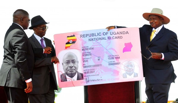Museveni launching the National Identity Card project - Photo by Kalibbala Kato Jacob