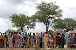 Photo: Tim McKulka/UNMIS -On the run - again. Residents of Abyei have been displaced numerous times in the past three years