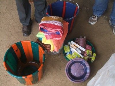 Some of the items presented to the Ivorian refugees and host communities in Nimba County