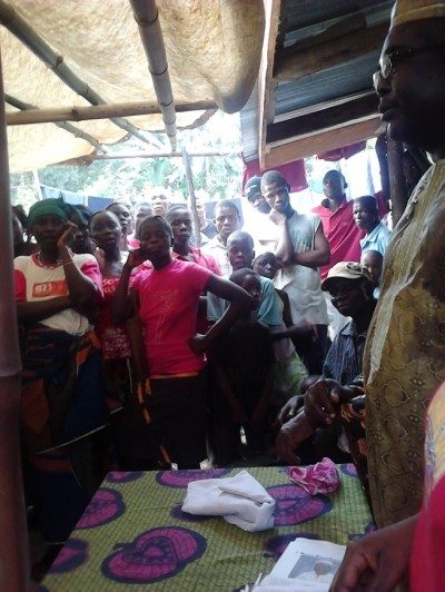 Hon. J. Mike Kollie Interacts with Citizens of Bong County