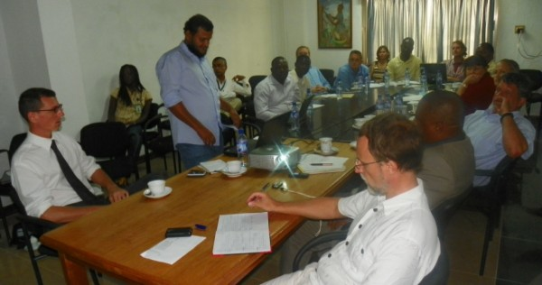 Participants at the food security assessment workshop at FAO Office in Monrovia