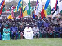 Vice President Dr. Njie Saidy pose with Military Officers across Africa