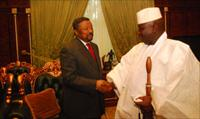 Jean Ping with Jammeh at State House