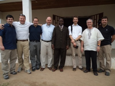 7-man Team from Harvest Bible Chapel-USA & Canada with Pastor Moses W. Wheigar of SOGOM Harvest-Liberia (middle)