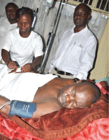Tortured: Kitandwe being attended to at Daniel's Clinic in Bweyogerere small