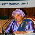 WaterAid WASH Goodwill Ambassador for Africa, President Ellen Johnson-Sirleaf of Liberia, speaking at the opening of the Meeting