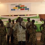 Cultural performance at the launch of the GO-LIVE Program of OXFAM Int'l Liberia