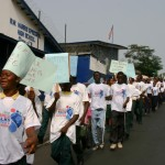 World Water Day parade with the youth, students and disabled among others