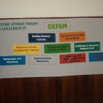 An OXFAM banner displayed at the Launching Program