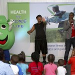 Detto show for the children at the Red Cross Hospital together with Idols finalist Lloyd Cele
