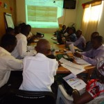 One of the working sessions of the 1st General Assembly of the Liberia CSOs WASH Network, held in the conference room of the WASH Reporters & Editors Network of Liberia (April 10-12, 2012), in Monrovia
