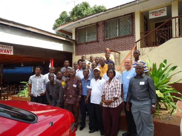 Group photo at the close of the 3-day Programme Planning Workshop organized  by WaterAid in Liberia and sierra Leone