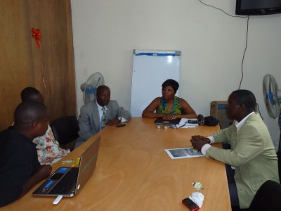 The Higher Ground Int'l Team and Executives of the WASH R&E Network-Liberia