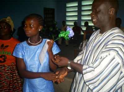 LDS Boss, Mr. Joseph S. Binda (right) with one of the graduating students, during the Program