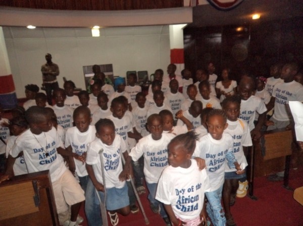 Liberian Children at the Capital in observance of the Day of the African Children
