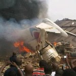 Breaking News: Plane crashes in Nigeria killing passengers on board and people in houses below