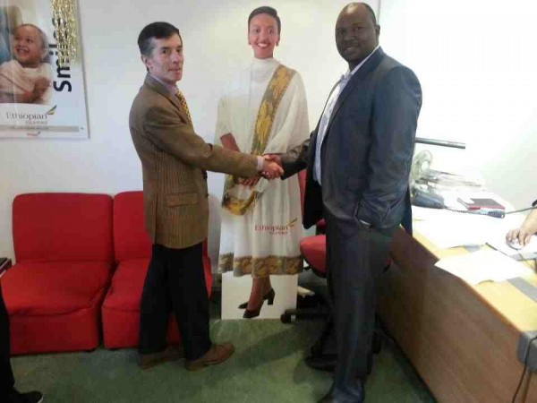 Ethiopian airlines official seals sponsoship deal with Marshal Gore of Rollers BBQ Spots