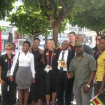 Olympians Outside Zimbabwe House in London yesterday_3