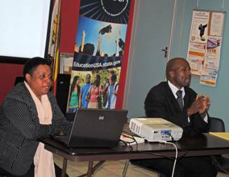 Hamida Ismail of the Disability, HIV and AIDS Trust (DHAT) told audiences at a Food for Thought discussion session held at the United States Embassy's Public Affairs Section Auditorium