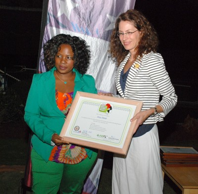 Sharon Hudson Dean with Tracey Sibanda of ZBC