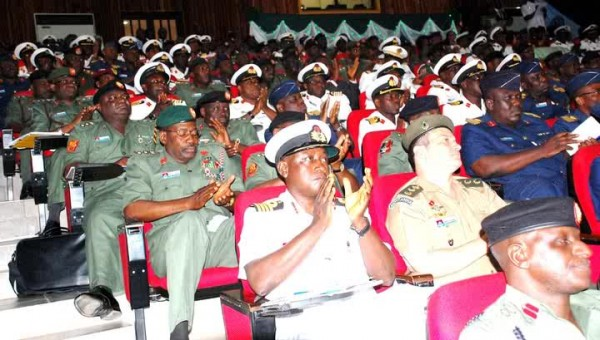 Senior military personnel at the lecture