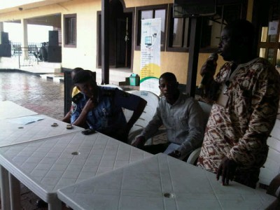 Youth Leader, Akinbinu, DPO FESTAC, Mu'azu Mohd at the news briefing