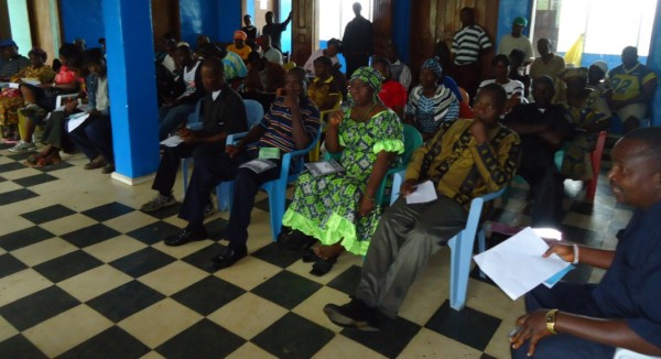Cross Section of Participants in Careysburg at the THRP Workshop