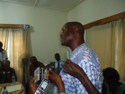 WASH Champion, Mr. Samuel H. Pieh, in whose honor the WASH Media Lecture Series is launched