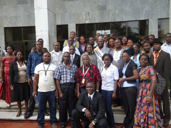 Group photo at the close of the Appreciation and Certification Program in honor of Mr. Samuel H. Pieh at the Monrovia City Hall