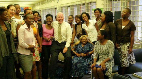 Dan Rutz with some participants of the Women Journalists Mentoring Program (WJMP)