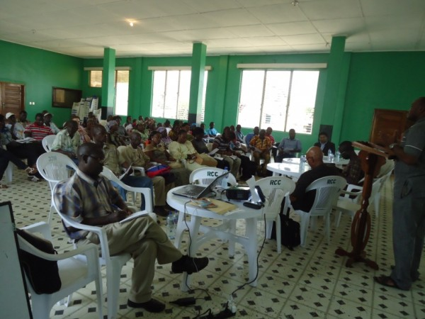 Participants at the Stakeholders Meeting in Robertsport