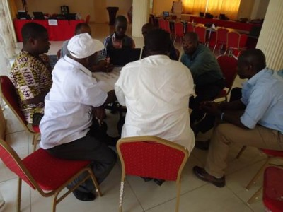 Group Work on Day Two of the Planning Meeting of WaterAid and Partners (Group 1)